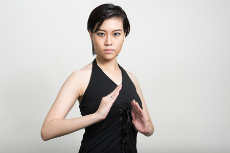 young style: Portrait of Asian woman Stock Photo