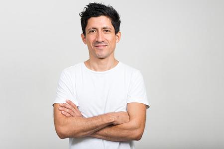 human arms: Portrait of Hispanic man
