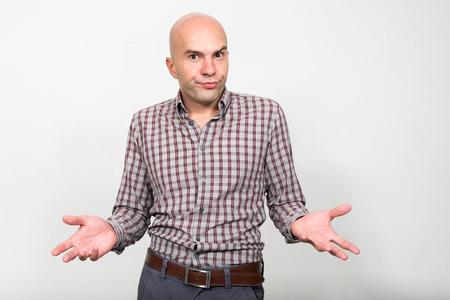 hombre calvo: Retrato de hombre calvo