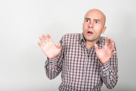 hombre calvo: hombre calvo miedo