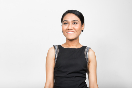 woman standing: Portrait of Asian woman Stock Photo