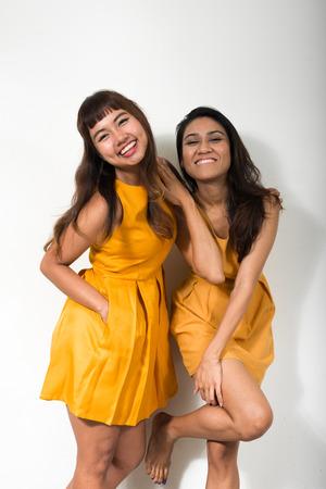 sexy asian woman: Portrait of lesbian couple Stock Photo