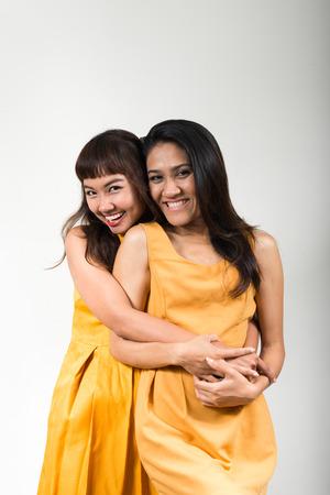 gay girl: Portrait of lesbian couple Stock Photo