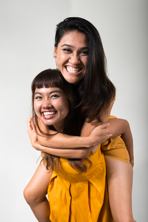sexy gay: Portrait of lesbian couple Stock Photo