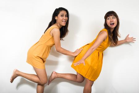 lesbian sexy: Portrait of lesbian couple Stock Photo