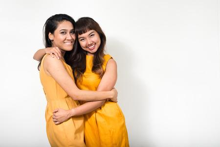 homosexual partners: Portrait of lesbian couple Stock Photo