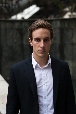 german ethnicity: Portrait of handsome businessman outdoors