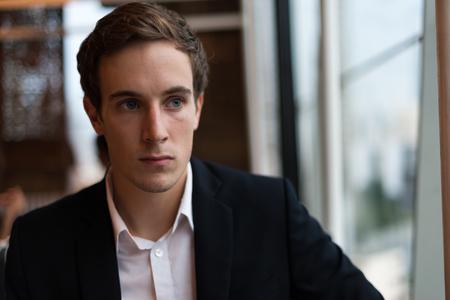 german ethnicity: Businessman sitting