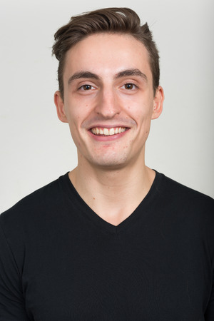 endorsing: Portrait of man smiling