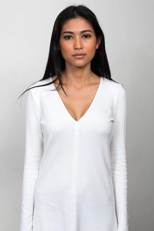 sexy asian woman: Portrait of beautiful Asian woman Stock Photo