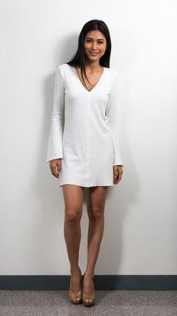 beauty full: Full length picture of beautiful Asian woman Stock Photo