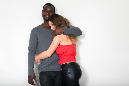 ethnic couple: Beautiful multi ethnic couple in love