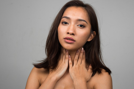 sexy woman naked: Sexy naked Asian woman Stock Photo