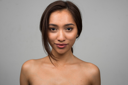 nude women: Sexy naked Asian woman Stock Photo