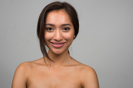 nude woman: Naked Asian woman