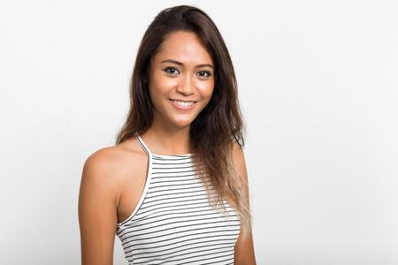 sexy asian woman: Portrait of beautiful Asian woman smiling