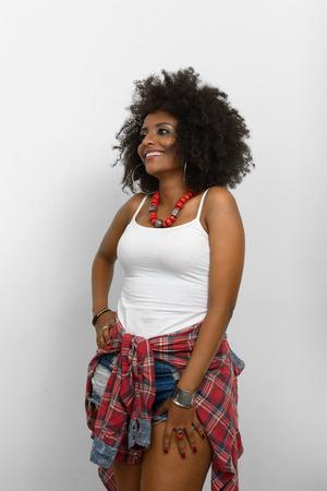 ethiopian ethnicity: Beautiful African woman smiling