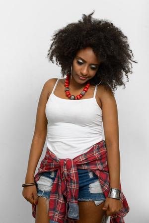 ethiopian ethnicity: Stressed woman Stock Photo
