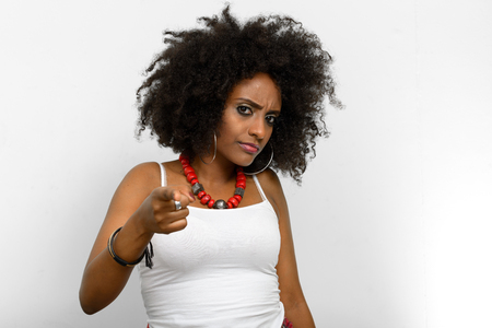 ethiopian ethnicity: African woman pointing at you