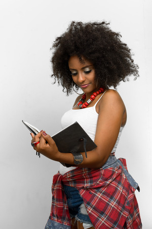 ethiopian ethnicity: Woman holding book