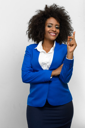 ethiopian ethnicity: Portrait of businesswoman with idea