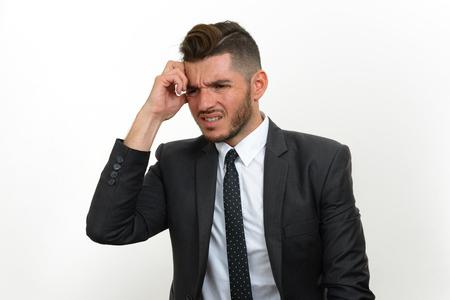business skeptical: Stressed businessman