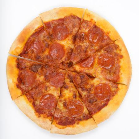 comida italiana: Pizza pepperoni Foto de archivo