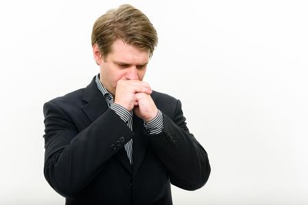 worried businessman: Portrait of worried businessman