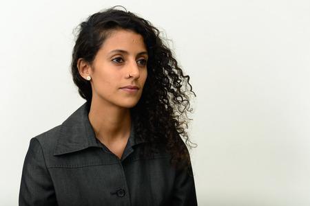 dult: Portrait of beautiful Hispanic woman Stock Photo