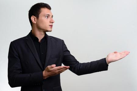 presenting: Businessman presenting