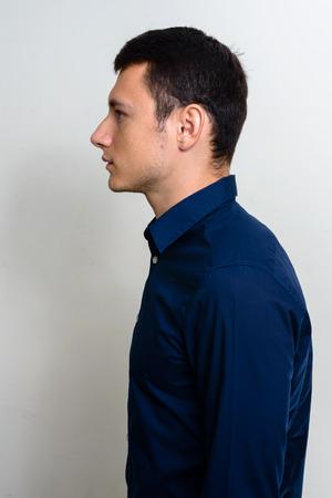 man profile: Profile view of man