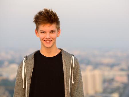 scandinavian people: Teenager boy outdoors