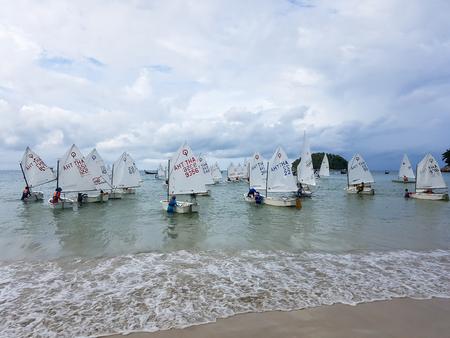 PHUKET, THAILAND DECEMBER 05, 2017 - Phuket King's Cup Regatta location on Kata Beach 에디토리얼