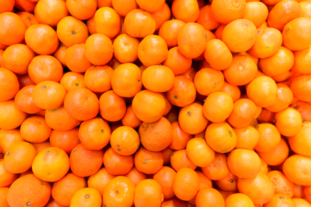 Top View Of Orange Fruits Stock Photo