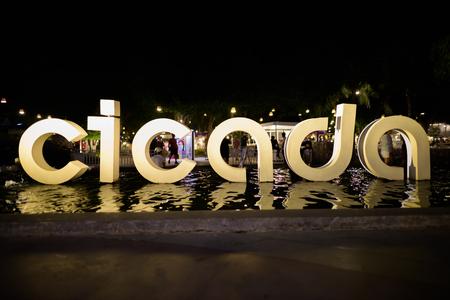 HUA HIN, THAILAND - FEBRUARY 25, 2017- entrance of Cicada Market