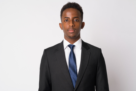 Portrait of young African businessman in suit Stok Fotoğraf