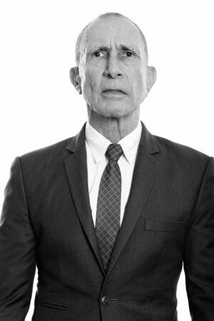 Studio shot of senior businessman