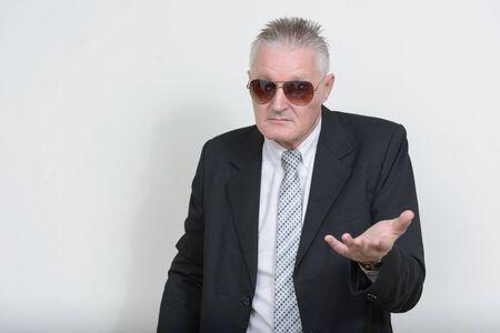 Portrait of senior businessman with gray hair
