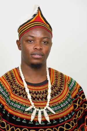 Young handsome African man wearing traditional clothing Imagens