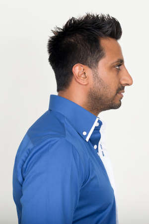 Closeup profile view of bearded Indian businessman Stock fotó