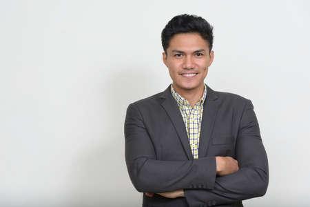 Portrait of handsome Asian businessman in suit