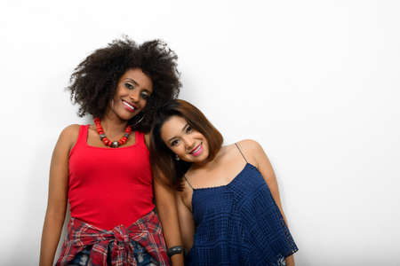 Portrait of two multi ethnic young women together