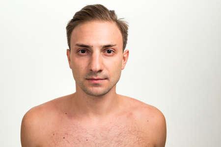 Portrait of man with blond hair shirtless Zdjęcie Seryjne
