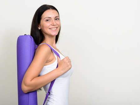 Portrait of beautiful woman ready for gym Stock Photo