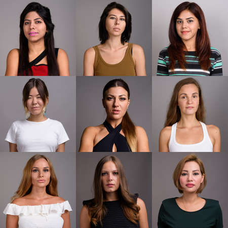 Collage of multi ethnic and mixed age women
