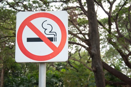 The sign of do not smoking photo