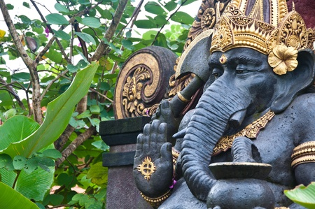 statue of ganesh in bali, indonesia photo