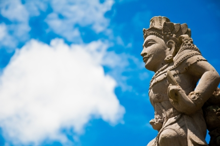 temple of heaven: angel statue in bali, indonedia