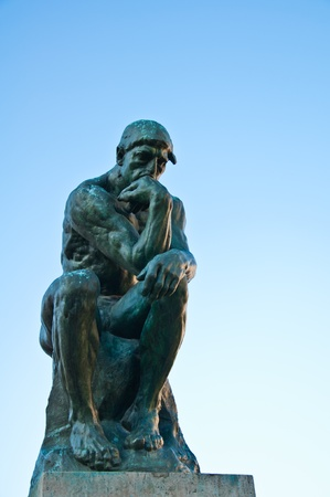 periods: The Thinker by Rodin Stock Photo
