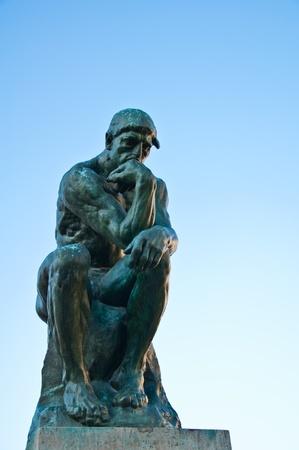 thinker: The Thinker by Rodin Stock Photo